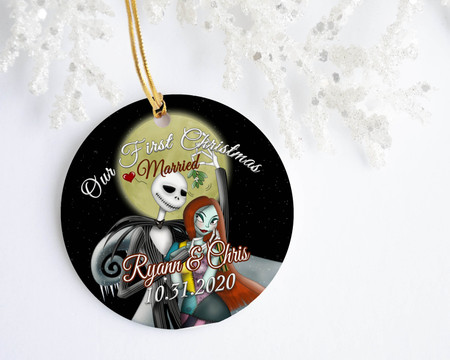 Nightmare Before Christmas Personalized Ornament