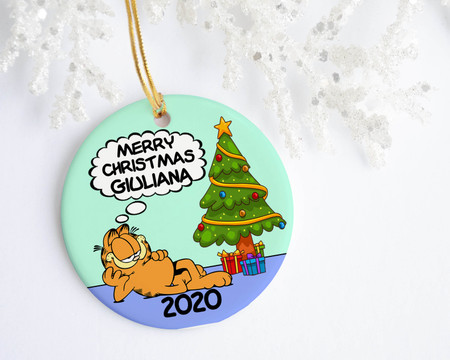 Garfield Personalized Christmas Ornament - Favors, Decor & More
