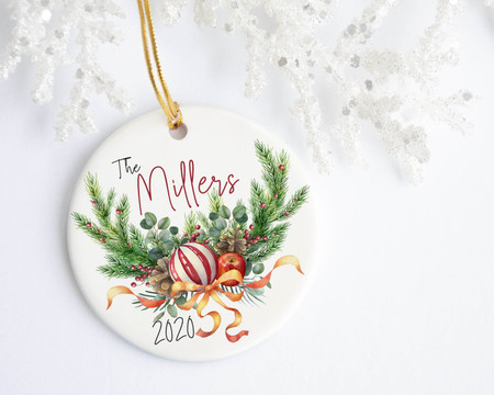 Christmas Apple, Ornament & Wreath Personalized Ornament - Favors, Decor & More