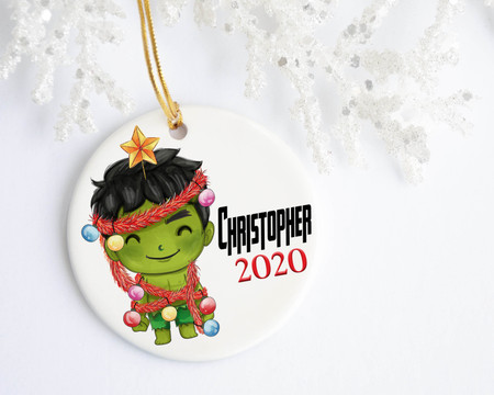 Baby Hulk Personalized Christmas Ornament | Favors, Decor & More