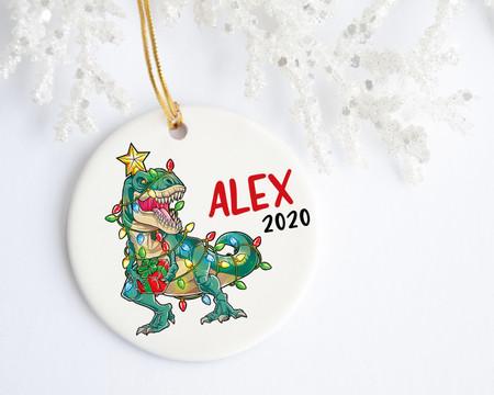 T-Rex Personalized Christmas Ornament | Favors, Decor & More