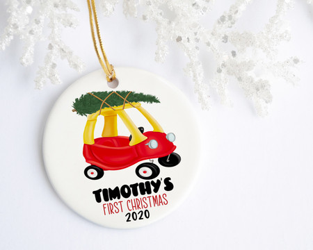 Little Tike Baby's First Christmas Personalized Ornament