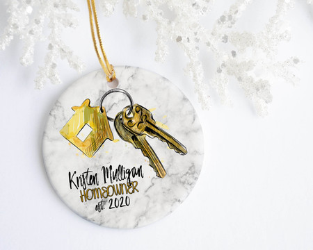 Homeowner Full Name Personalized Christmas Ornament