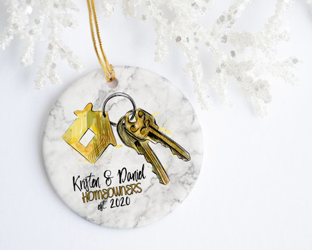 Homeowner First Names Personalized Christmas Ornament