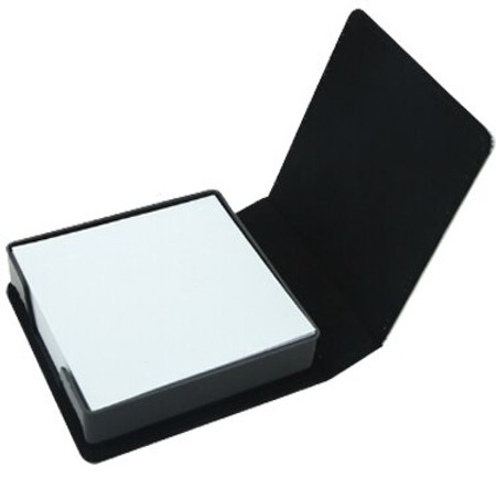 Sticky note holder with memo sheets