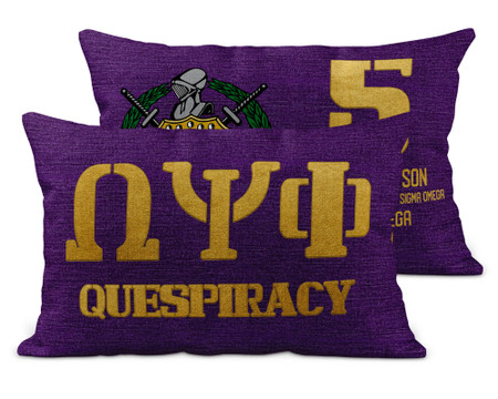 Omega Psi Phi Chapter Brick Pillow Cover