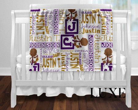 Future Omega Personalized Baby Blanket Luxe