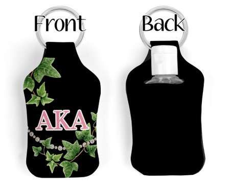 Alpha Kappa Alpha Key chain Sanitizer Bottle Holder