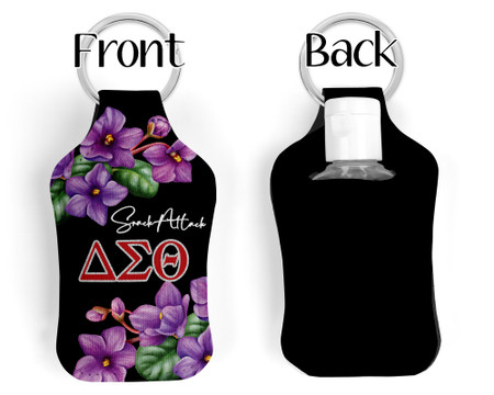 Personalized Delta Sigma Theta Key chain Sanitizer Bottle Holder