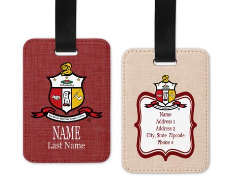 Kappa Alpha Phi Luggage Tag - Personalized
