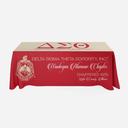 Delta Sigma Theta Tablecloth, Table Throw