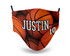 Basketballs Personalize Face Mask with Jersey Number