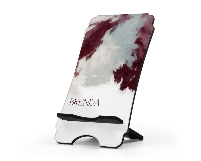 Personalized Cell Phone Stand Winery Watercolors