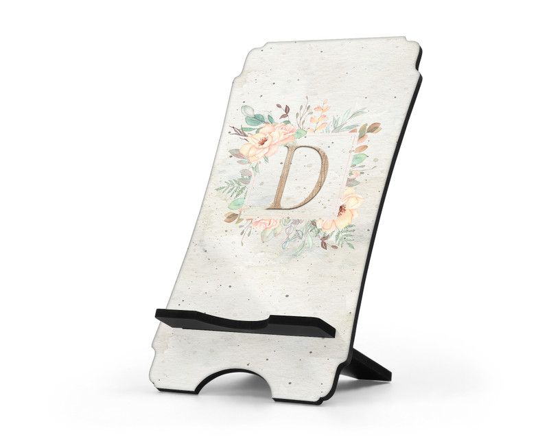 Floral Cell Phone Stand Initial