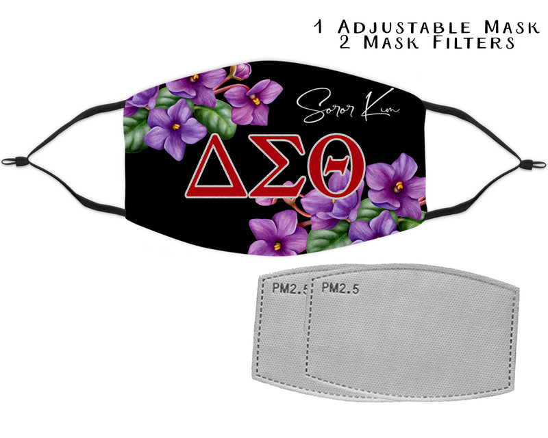 Delta Sigma Theta Mask with two filters