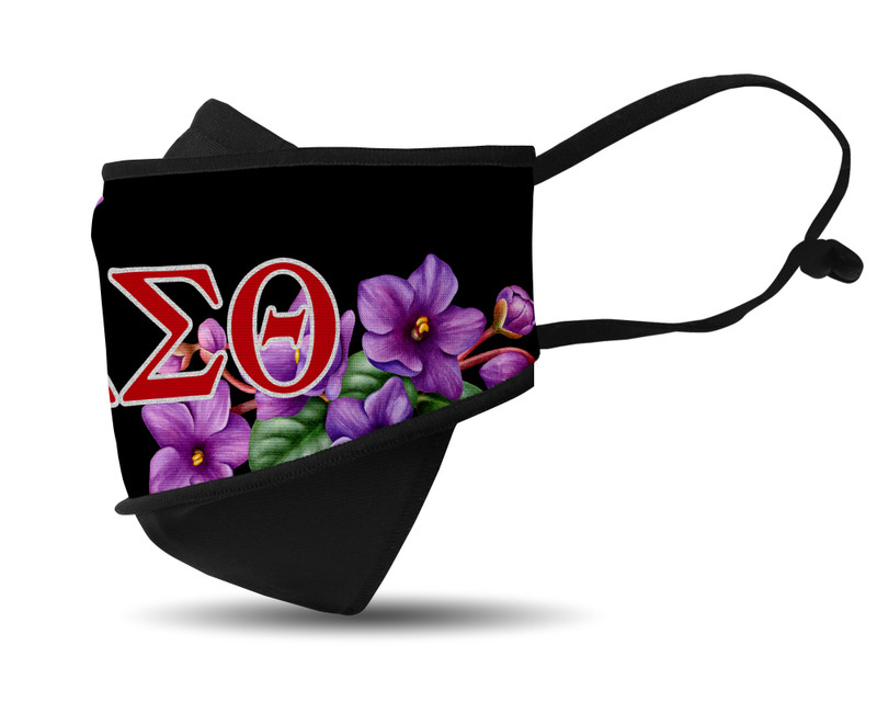 Delta Sigma Theta Mask 3D Side View