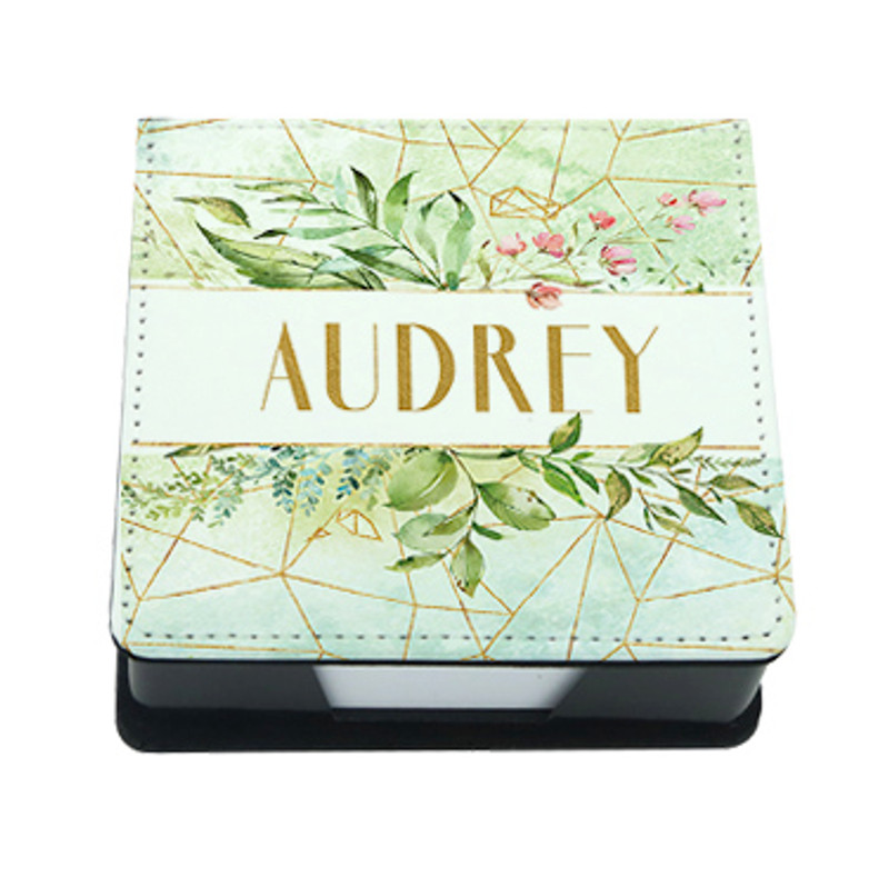 Personalized Post-It Note Holder, Memo Tray