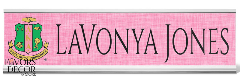 Alpha Kappa Alpha Personalized Desk Nameplate