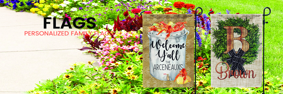 Personalized Garden Flags for Home