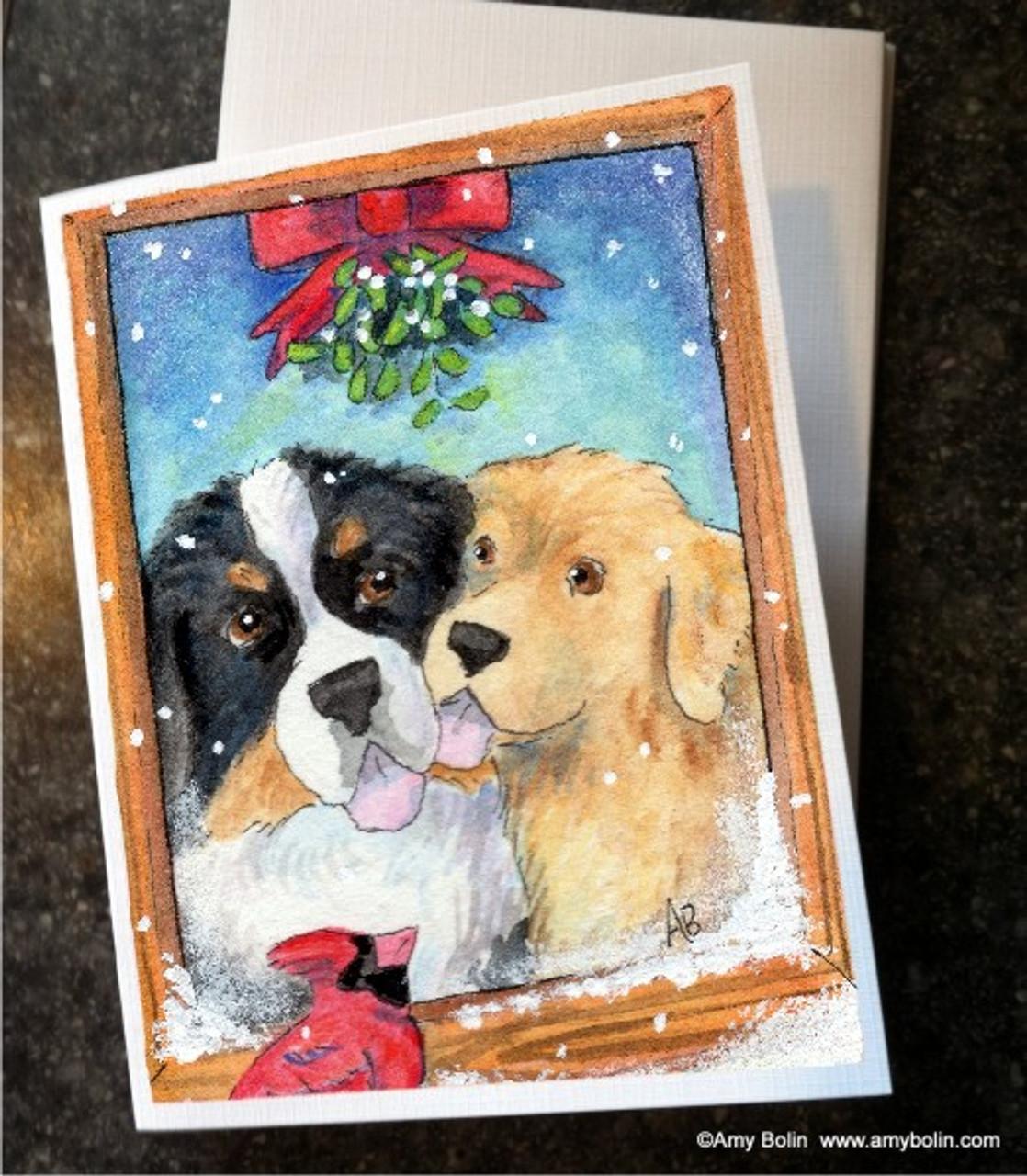 6 Bernese Mountain Dog Blank Art Note Greeting Cards