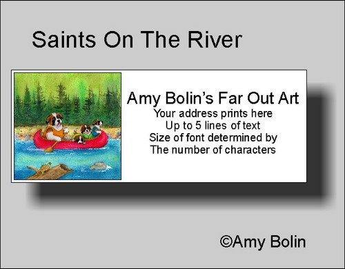 """Saints On The River"" Saint Bernard Address Labels"