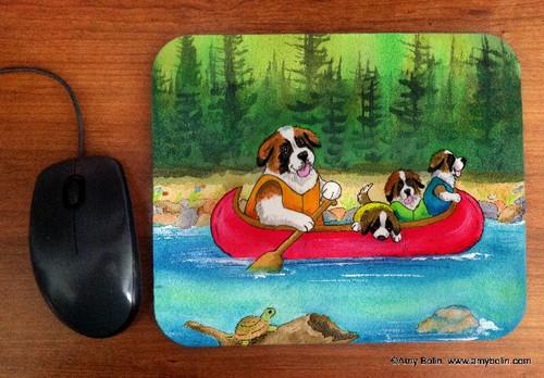 """Saints On The River"" Saint Bernard Mouse Pad"
