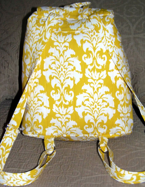"Handmade quilted Purse/Backpack     ""'Sadie""   Saint Bernard     By Dawn Johnson"