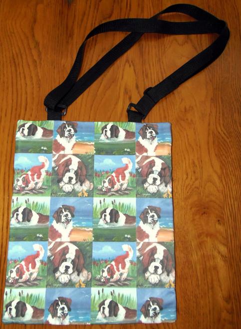 "Handmade Purse ""In Mom's Pond, Little Gardener, Me & My Goose, A Day At The Beach""   Saint Bernard     By Dawn Johnson"