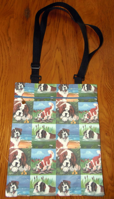 "Handmade Purse ""In Mom's Pond, Little Gardener, Me & My Goose, A Day At The Beach""   Saint Bernard     By Dawn Johnson"