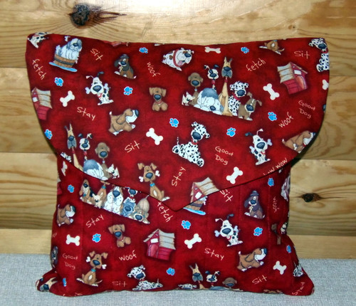 """Handmade Quilted 16"""" by 16"""" Pillow   By Dawn Johnson"""