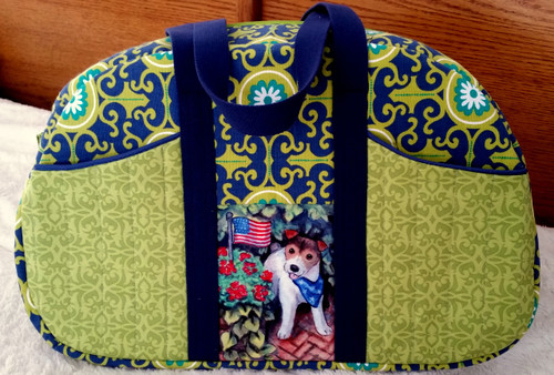 Large Purse/Travel Bag    Jack Russell Terrier  By Dawn Johnson