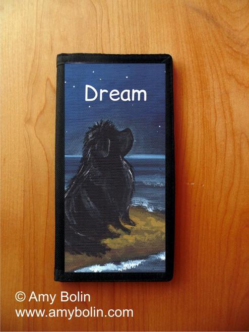 """""""Dream"""" Black Newfoundland Checkbook Cover"""