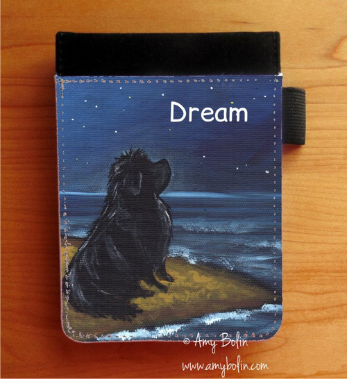 """""""Dream"""" Black Newfoundland Notebooks (several sizes available)"""