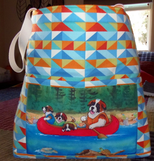 """Handmade quilted Beach Bag     """"'Saints  on the River""""      By Dawn Johnson"""