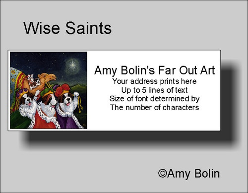 """Christmas: Wise Saints"" Saint Bernard Address Labels"