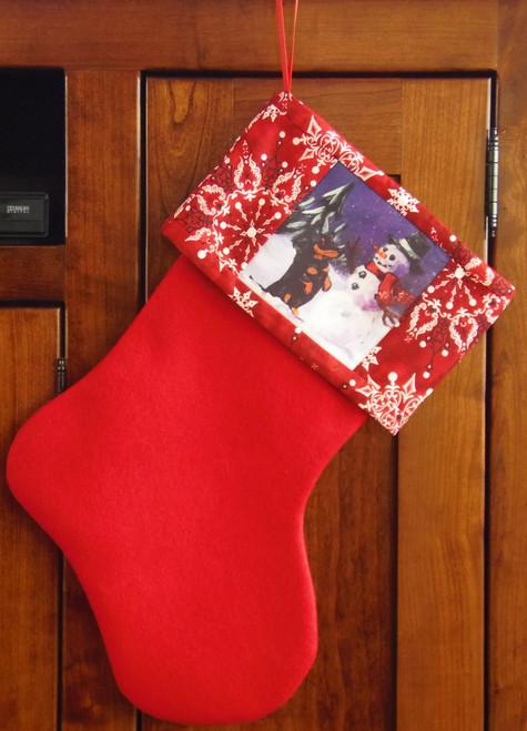 "Handmade Stocking     ""Hello Friend""        Dachshund   By Dawn Johnson"