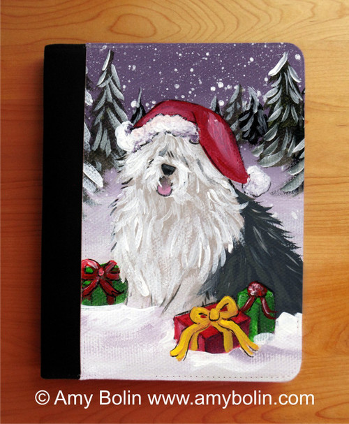 """Merry Christmas"" Old English Sheepdog Notebook"