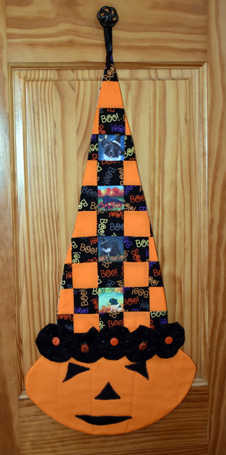 "Quilted/Handmade Halloween wall hanging        ""Autumn and Halloween Newfoundland pictures ""      By Dawn Johnson"
