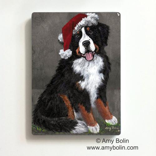 """Merry Merlin"" Bernese Mountain Dog Magnet"