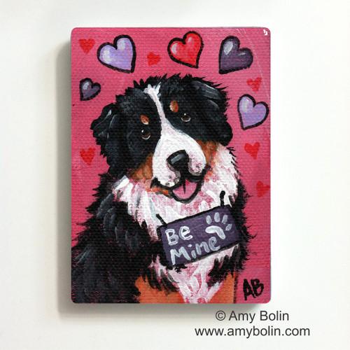 """""""Valentine: My Valentine"""" Bernese Mountain Dog Magnet"""