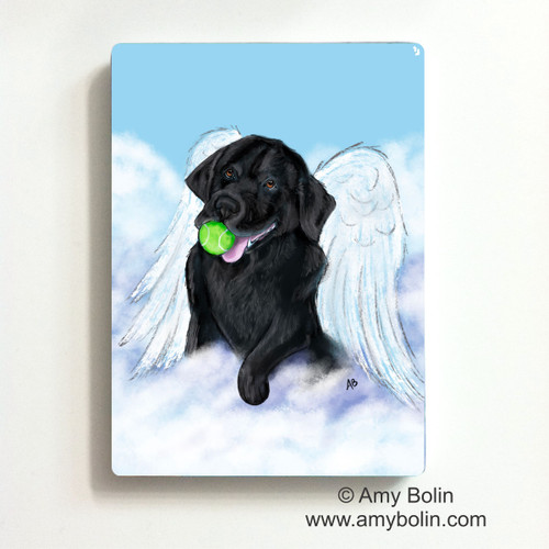 """Playful Angel"" Black Labrador Retriever Magnet"