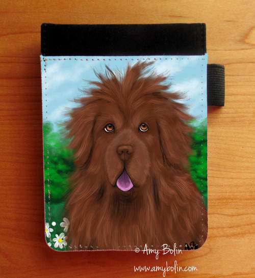 """Shaggy"" Brown Newfoundland Notebooks (several sizes available)"