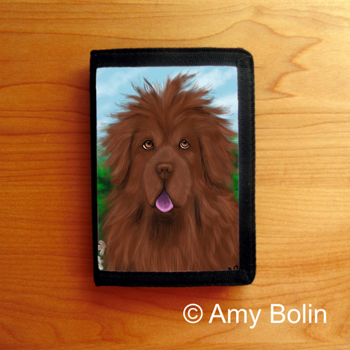 """""""Shaggy"""" Brown Newfoundland Trifold Wallet"""