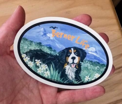 """Berner Life"" Bernese Mountain Dog Decal / Sticker"