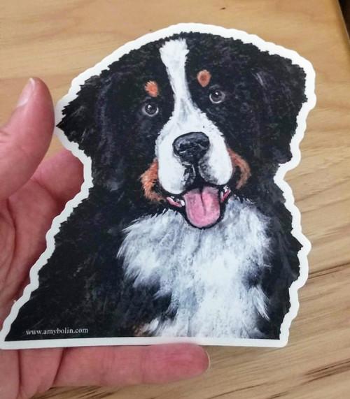 """Merlin"" Bernese Mountain Dog die cut Decal / Sticker"