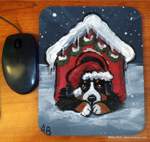 """Believe"" Bernese Mountain Dog Mouse Pad"