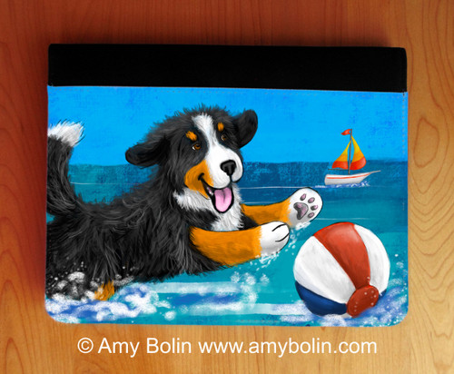 """""""Summertime Fun"""" Bernese Mountain Dog Notebooks (several sizes available)"""