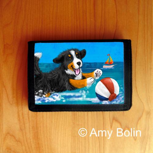 """Summertime Fun"" Bernese Mountain Dog Trifold Wallet"