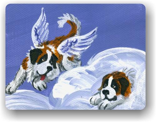 """""""Heavenly Hide & Seek"""" Saint Bernard Magnet"""
