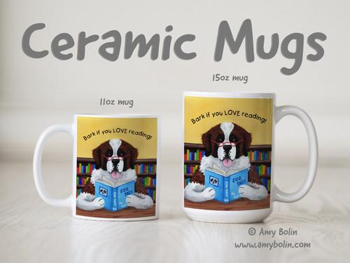 """Dog Tails"" Saint Bernard Ceramic Mug 11oz or 15oz"